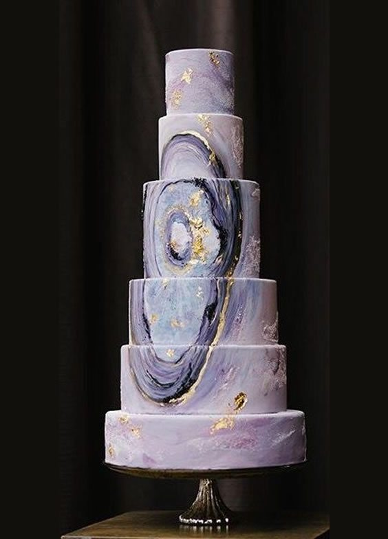 Trending Wedding Cakes - Marbled