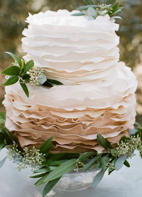 Trending Wedding Cakes - Ruffled