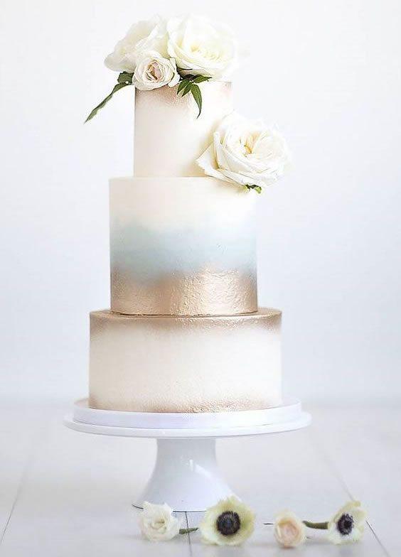 Trending Wedding Cakes - Watercolor