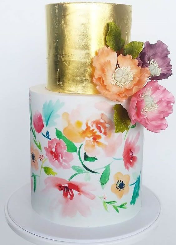 Trending Wedding Cakes - Watercolor